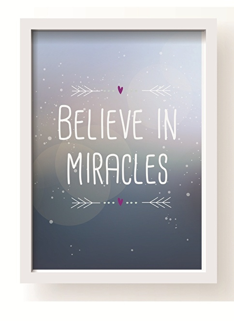 All About Wall Believe Miracle Poster Mavi